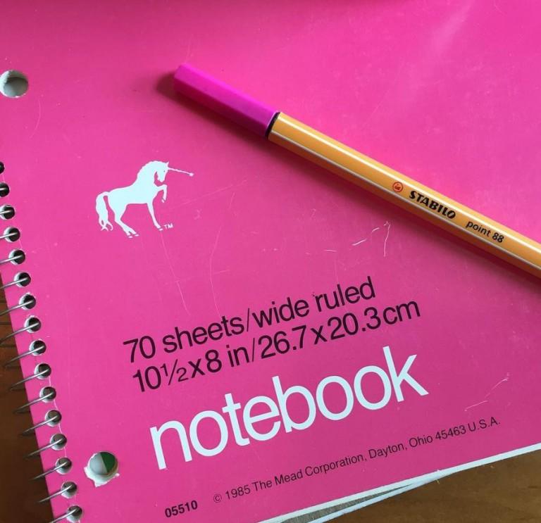 The Magic Unicorn Notebook | SeeLaurieWrite.com